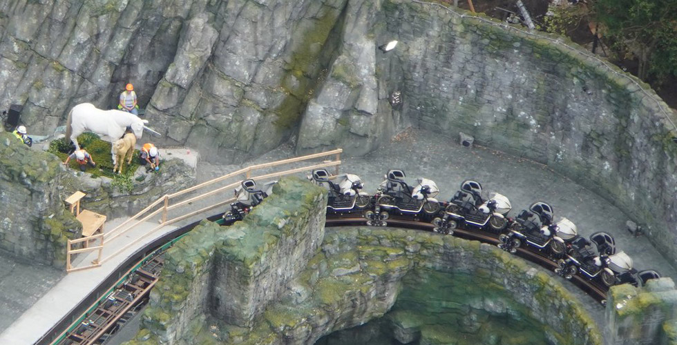 Photo Update: Hagrid's Motorbike Roller Coaster opens in one month!