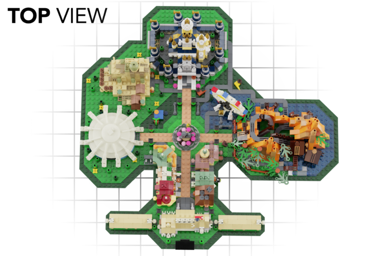 Vote online to support a fan-made Disney Parks Lego set