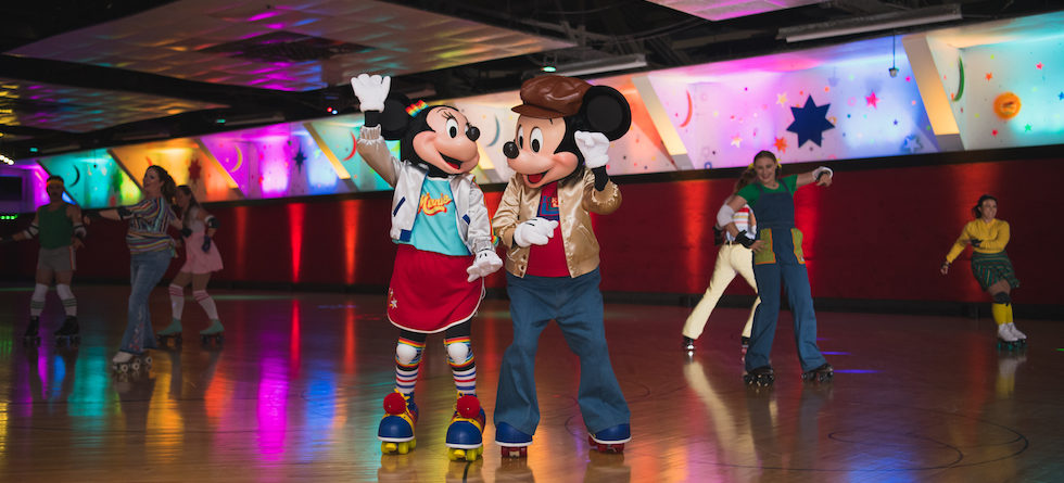 D23 throws it back to the '70s with Mickey Mouse's Roller Disco Party