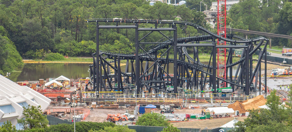 Photo Update: TRON Lightcycle Power Run rises from the dirt