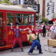 Red Car Trolley News Boys show closing at Disney California Adventure
