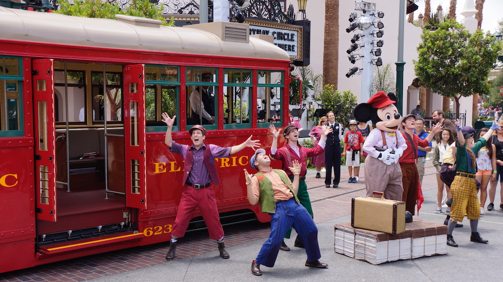 red car trolley news boys