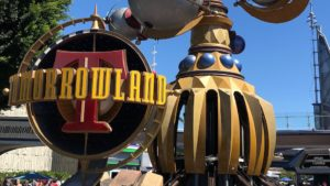 Disneyland removing rocks in front of Tomorrowland for Project Stardust