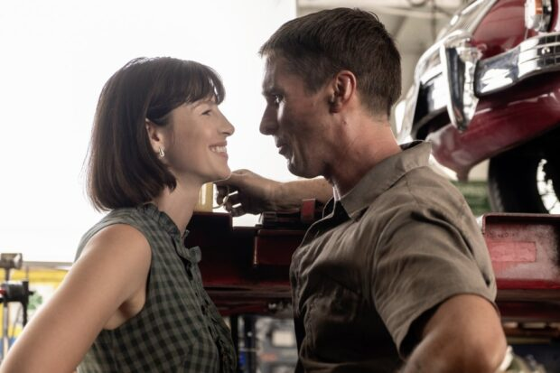 caitriona balfe and christian bale as mollie and ken miles