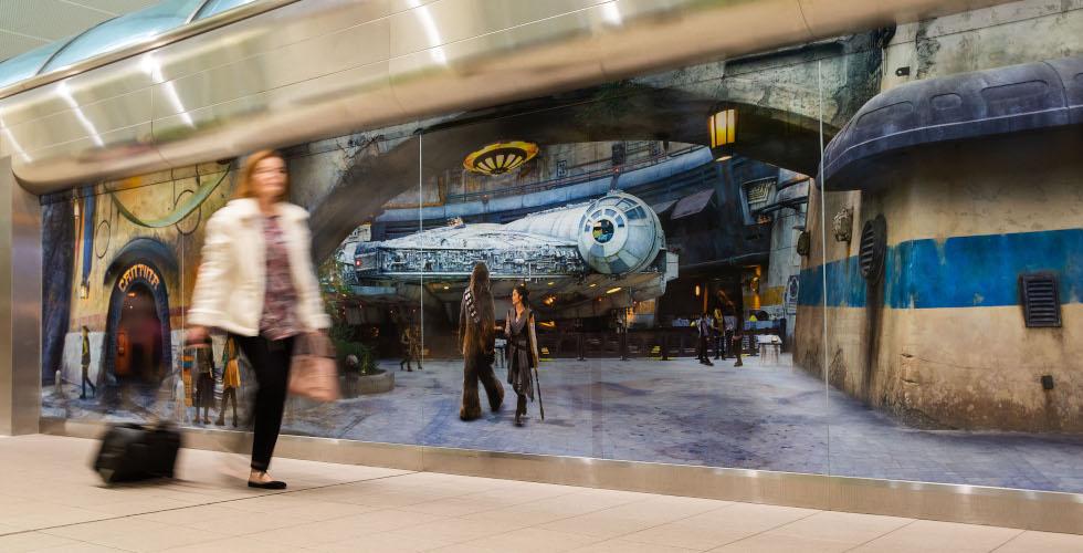 Star Wars Galaxy's Edge Orlando International Airport MCO art installation