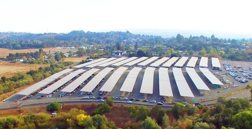 Six Flags Discovery Kingdom solar power parking lot