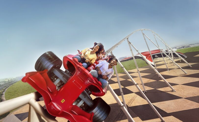 Ferrari World Abu Dhabi Coaster Lab Formula Rossa Roller Coaster