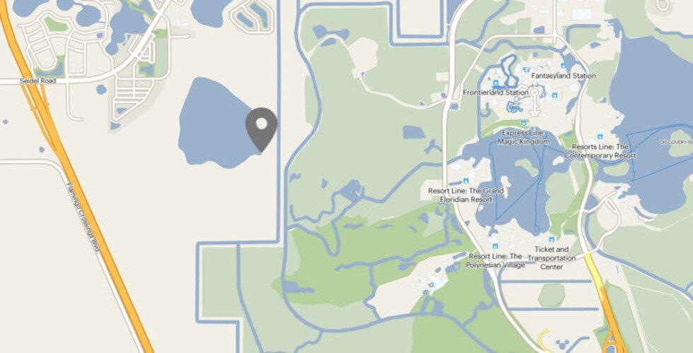 Walt Disney World land purchase map