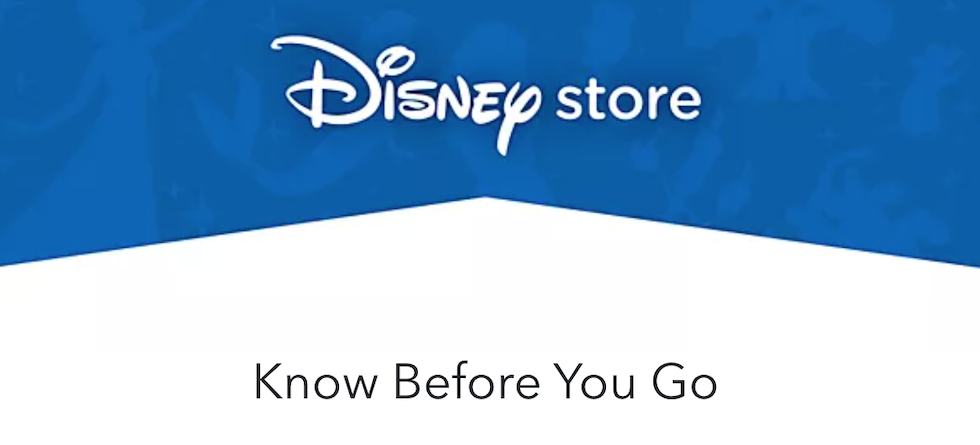 Disney store shares updated health and safety measures for reopening