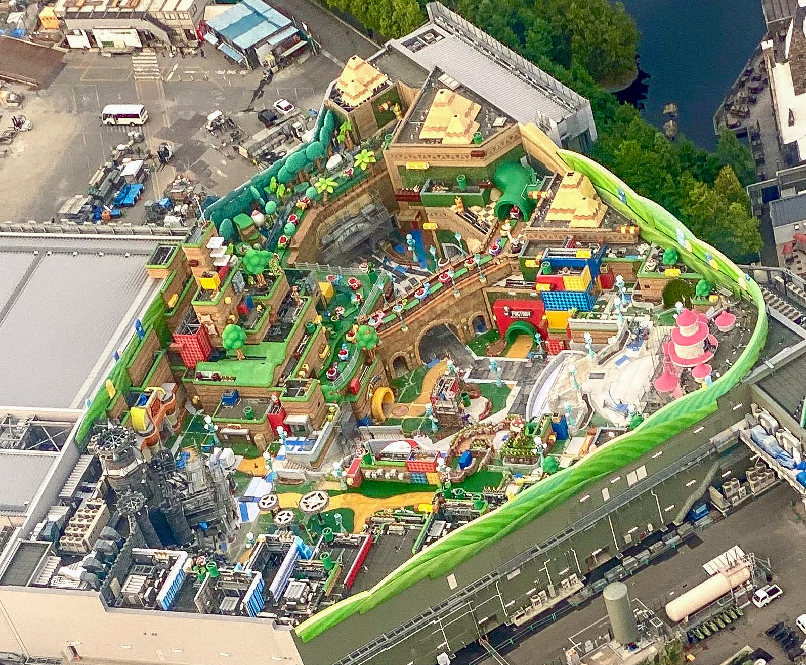 Overview of  in Super Nintendo Land at Universal Studios Japan.