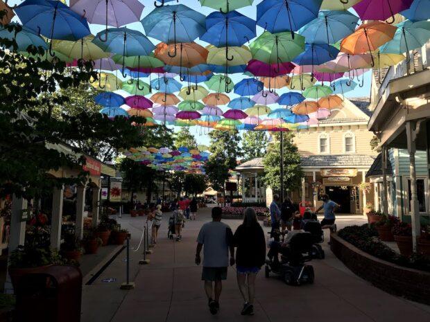 umbrella display