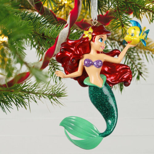 little mermaid metal ornament