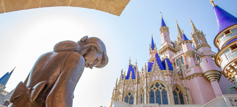 Take a close-up look at Cinderella Castle's rose gold 50th Anniversary update