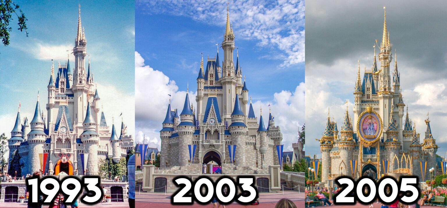 Cinderella Castle's designs through the years.