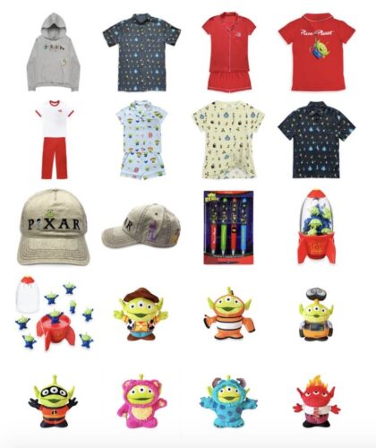 shopDisney, Pixar, aliens, toy story, nemo, wall-e, woody