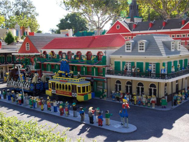 Legoland California, Miniland USA, Miniland New Orleans, Mardi Gras, French Quarter