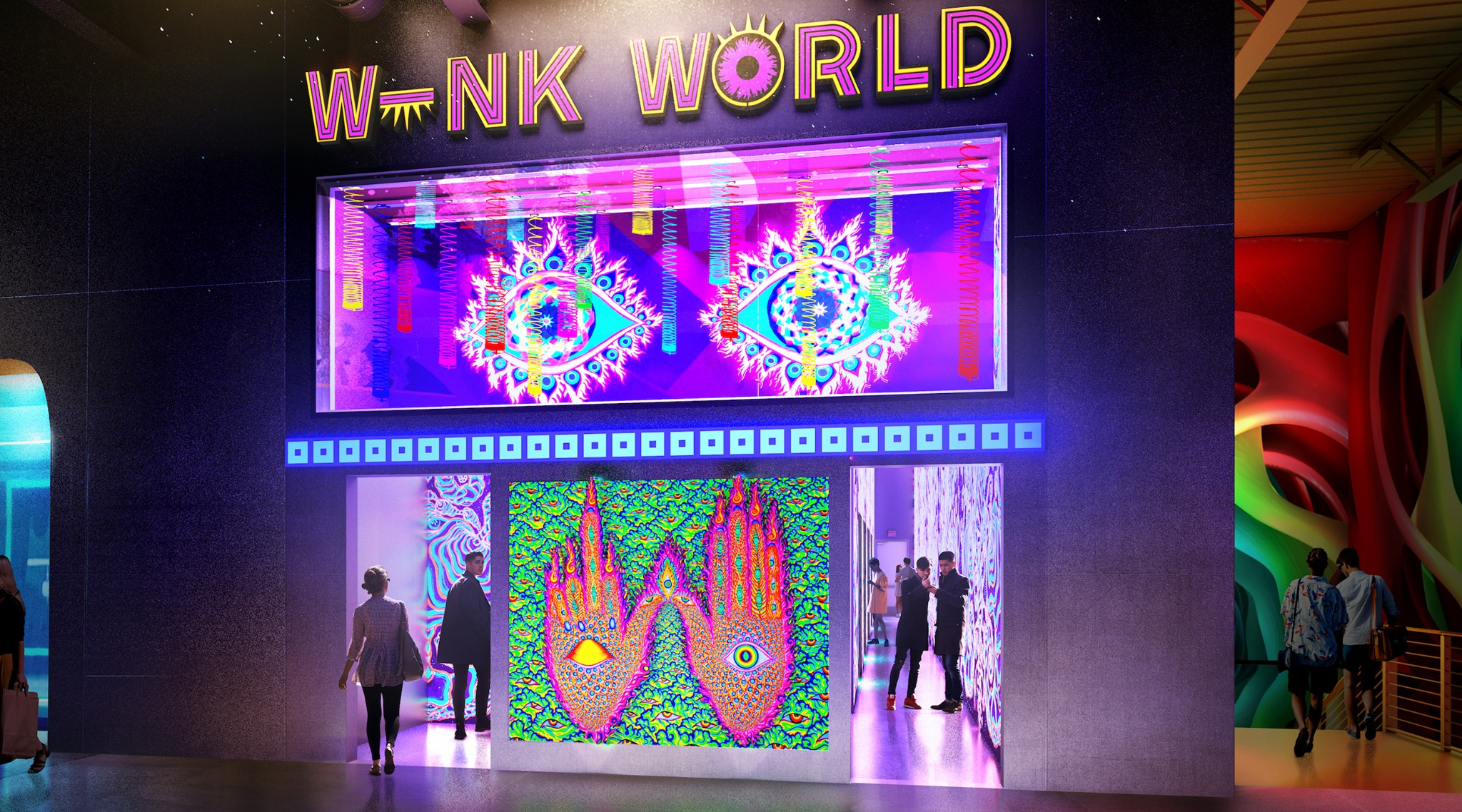 Wink World, Chris Wink, AREA15, Las Vegas, Alex Aliume