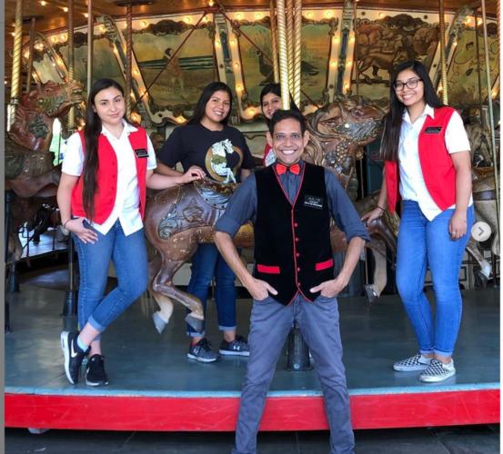 Julio Gosdinski and staff at Griffith Park Merry-Go-Round.