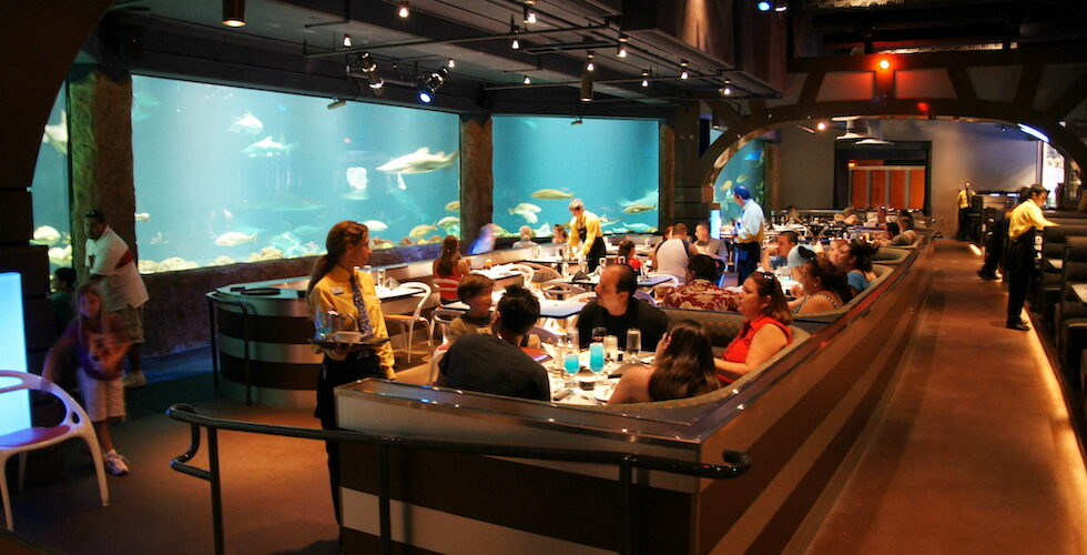 Sharks Underwater Grill at SeaWorld Orlando.