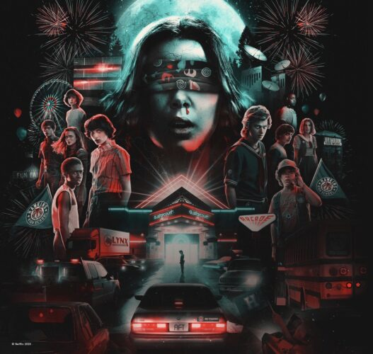 Stranger Things, Drive-into Experience, Starcourt mall, Eleven