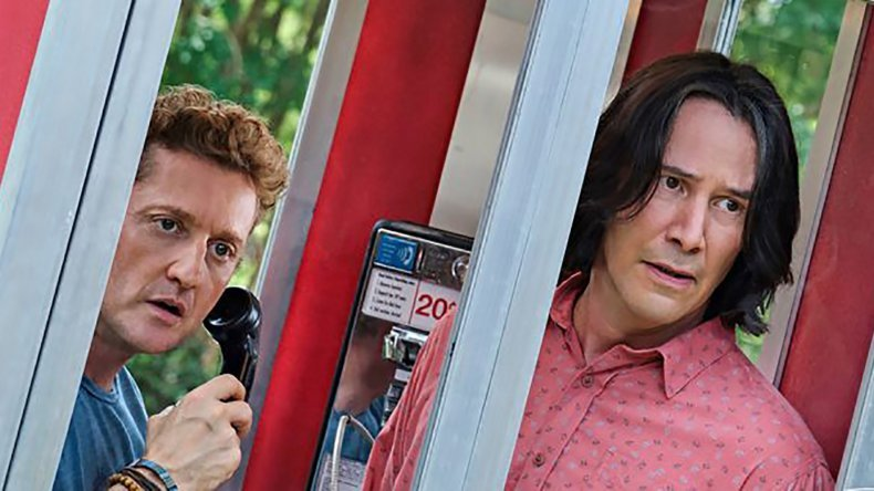 Bill and Ted in a phone booth.