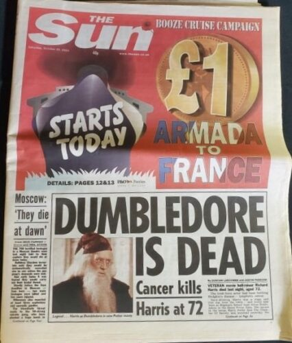 Hollywood Auction, The Sun, Harry Potter, Dumbledore