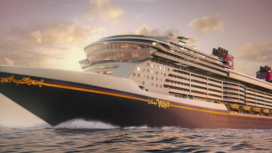 Rendering of the Disney Wish cruise ship