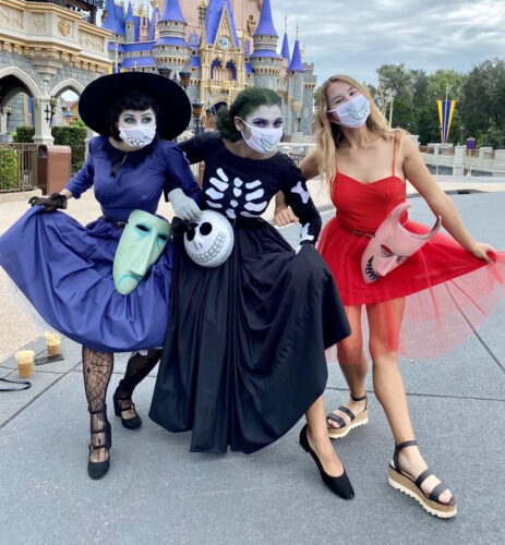 "Guests dressed up as Lock, Shock and Barrel from ""The Nightmare Before Christmas."