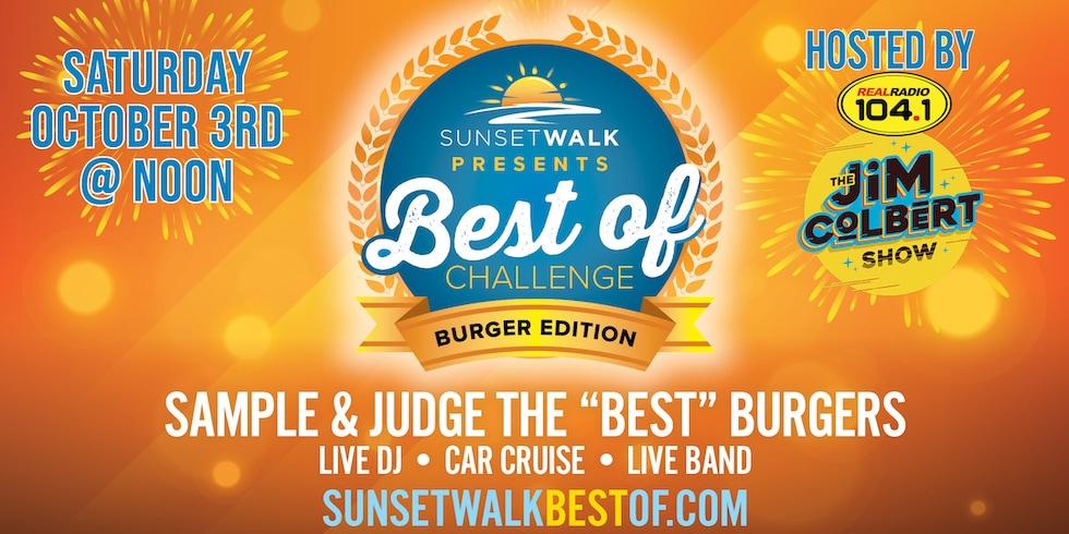 Sunset Walk Orlando, Best of Burger Challenge