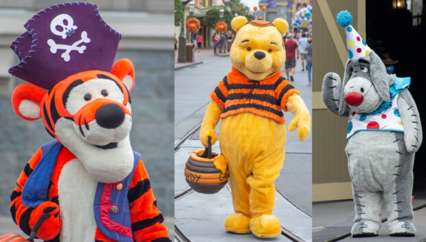 Tigger, Winnie the Pooh, and Eeyore.