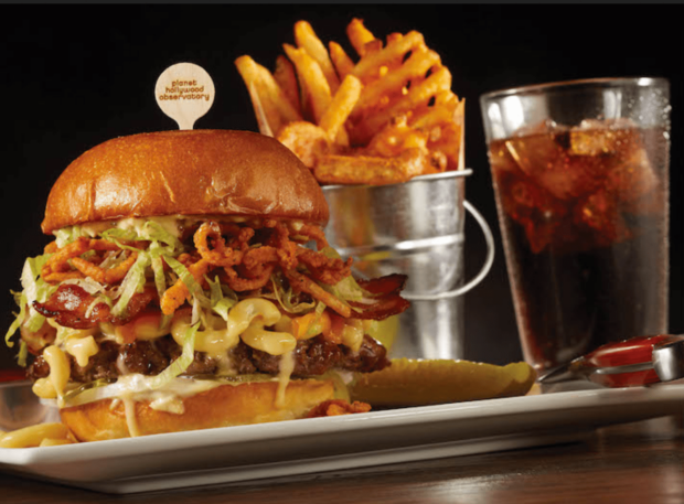 Weekday Dining Offer, Planet Hollywood, burger