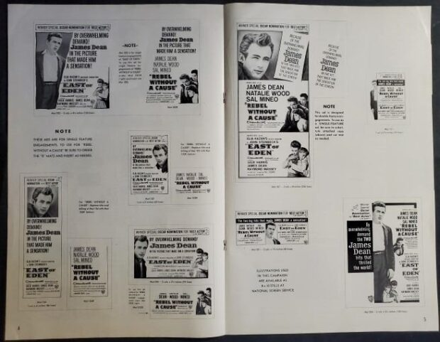 Hollywood Auction, press book, Rebel Without a Cause, East of Eden