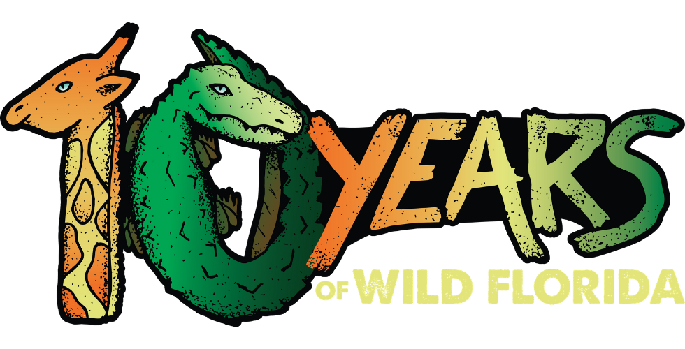 wild florida free admission 10 year anniversary logo
