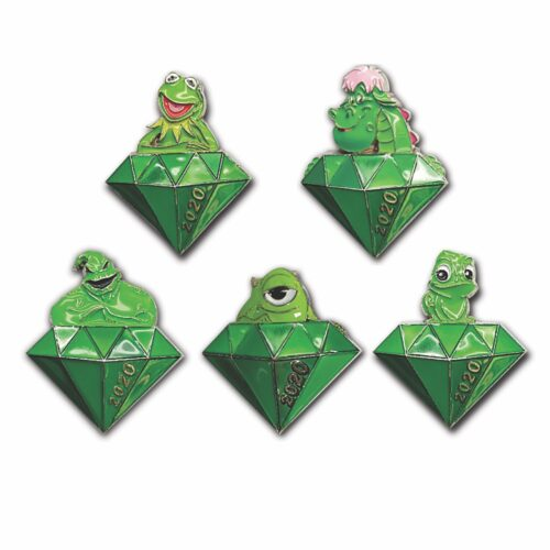 Celebrating Twenty Years of Disney Pins, virtual pin event, emerald pins