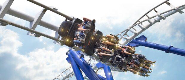 Gardaland Resort, Blue Tornado, theme parks in Italy