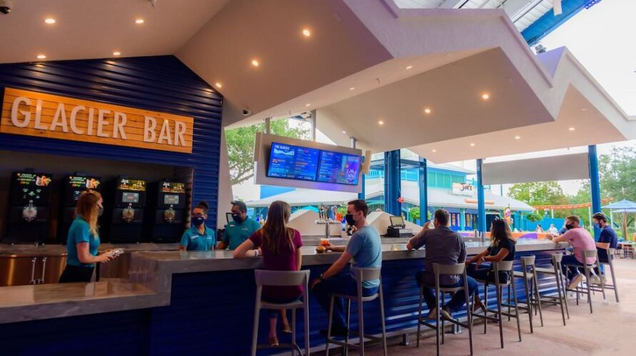 Glacier bar at seaworld orlando