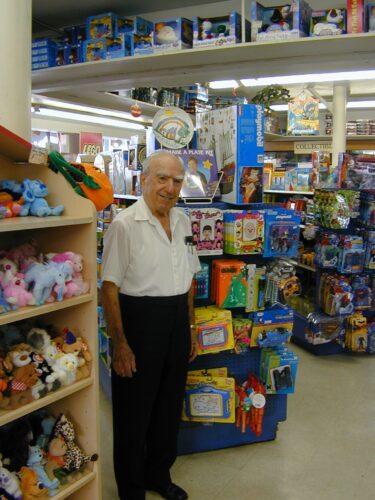 Kip Kipper, Kip's Toyland, oldest toy store in Los Angeles