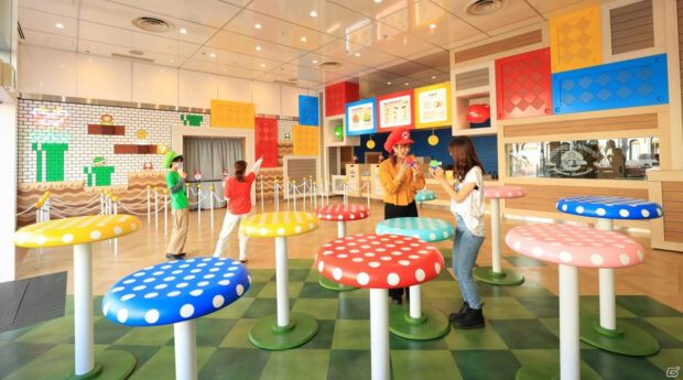 Interior of the Mario Cafe
