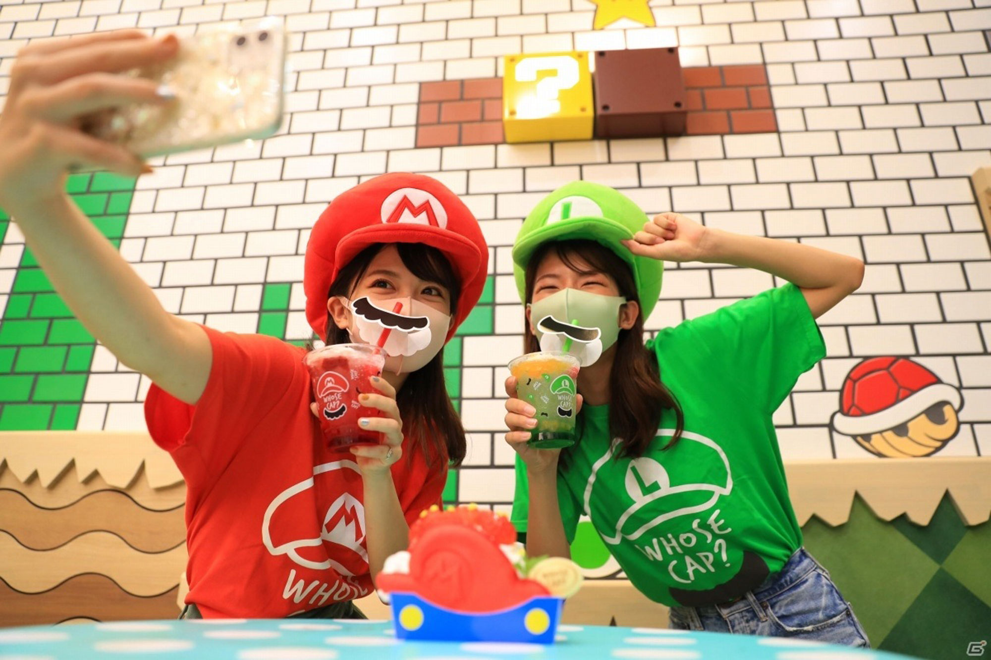 Guests eating in the new Mario Cafe