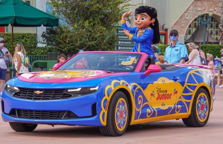 Mira, from Mira, Royal Detective, debuts today at Disney's Hollywood Studios