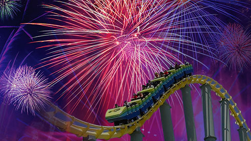SeaWorld San Antonio Fiesta del Mar fireworks