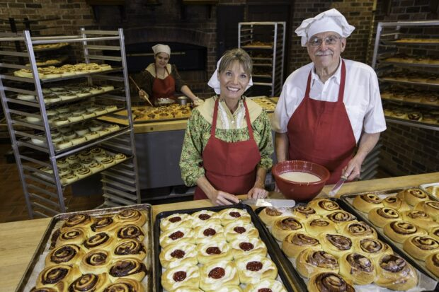 an old time christmas bakery