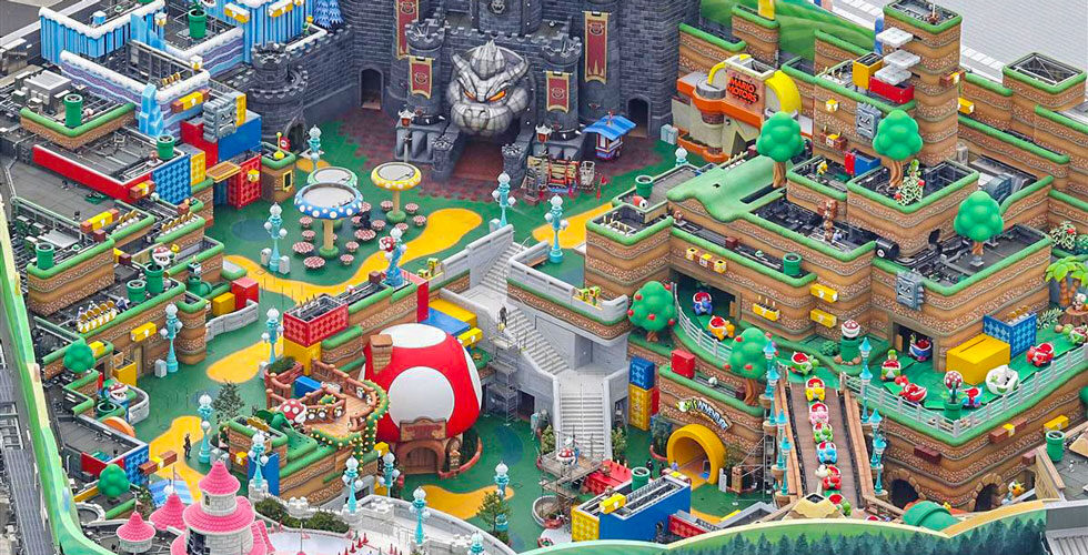 Aerial look at Super Nintendo World at Universal Studios Japan