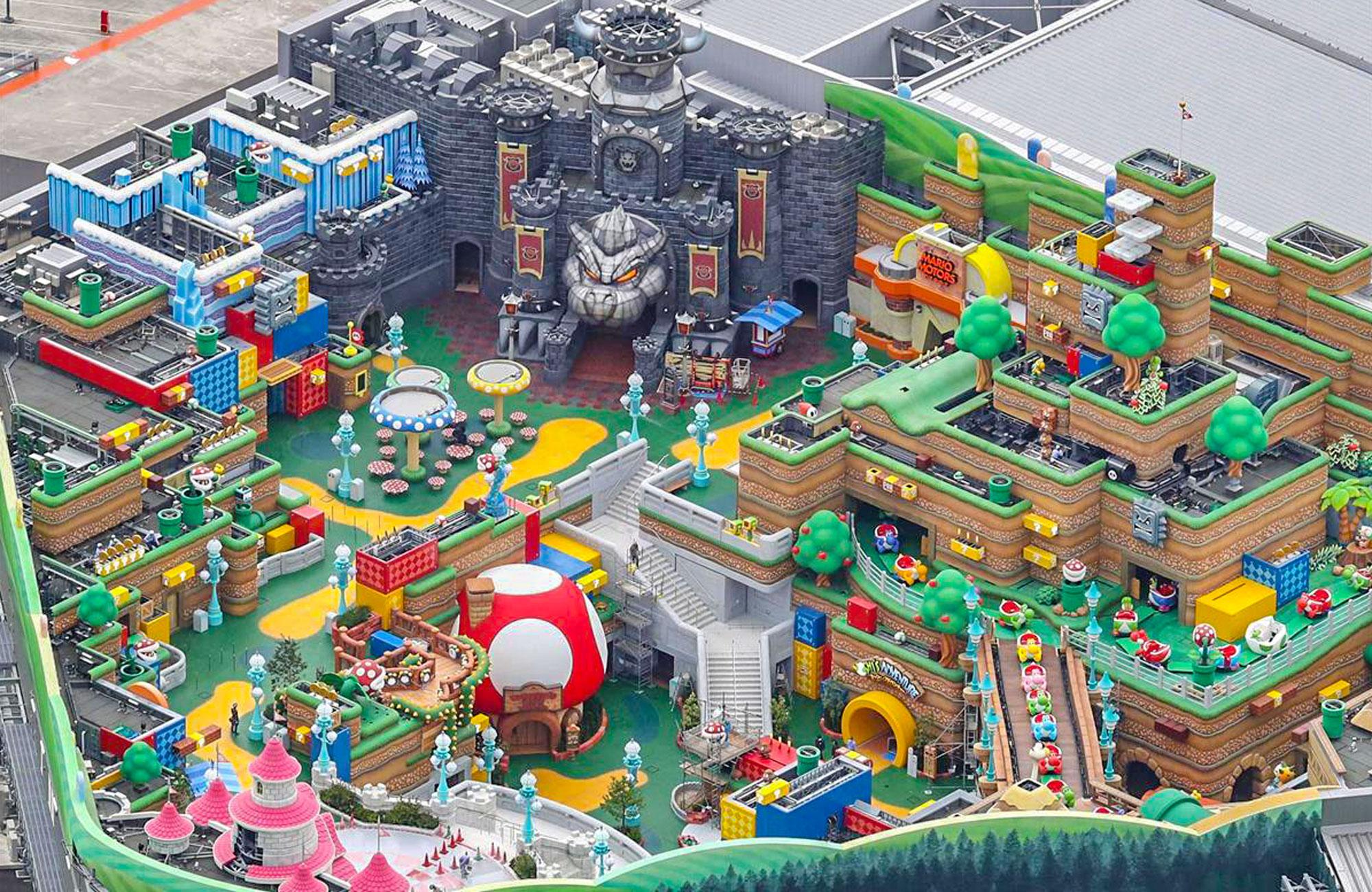 Aerial look at Super Nintendo World at Universal Studios Japan