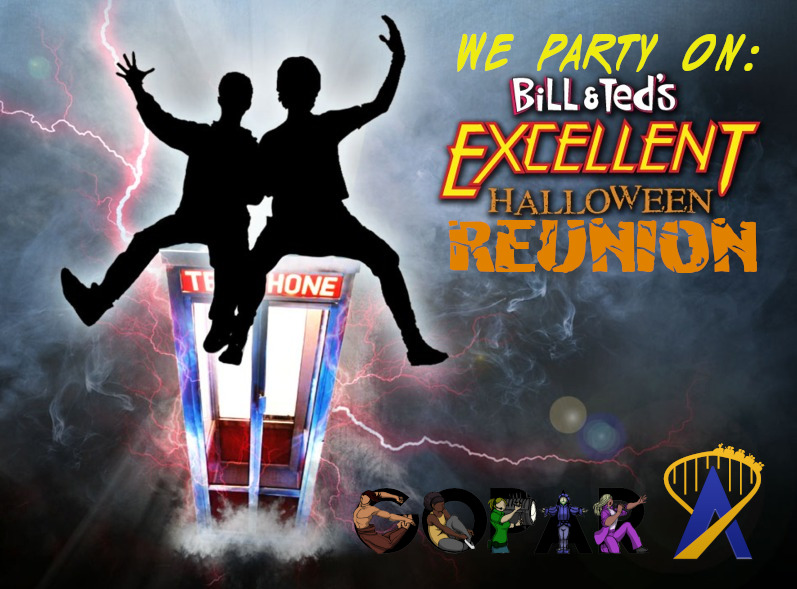 We Party On: Bill & Ted's Excellent Halloween Reunion logo
