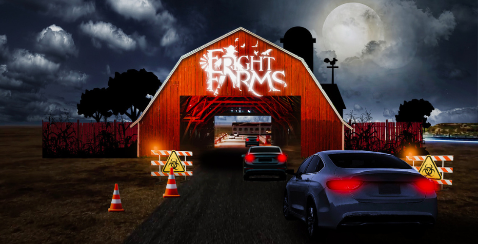 fright farms drive thru halloween california