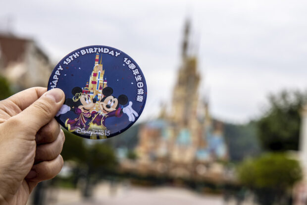 15th anniversary button