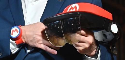 Mario Kart AR glasses
