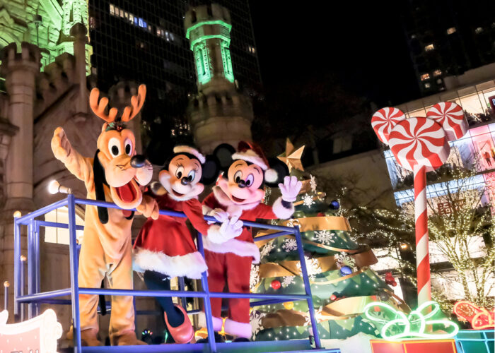 Pluto, Mickey and Minnie Mouse