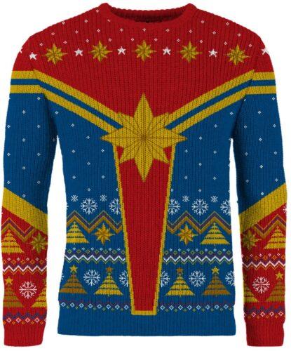 new merchoid marvel avengers ugly xmas sweater